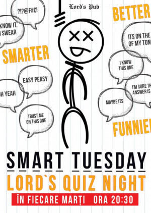 Smart Tuesday - Lord's Quiz Night